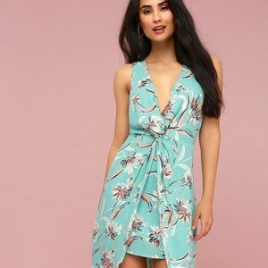 Lush High-Low Floral Dress